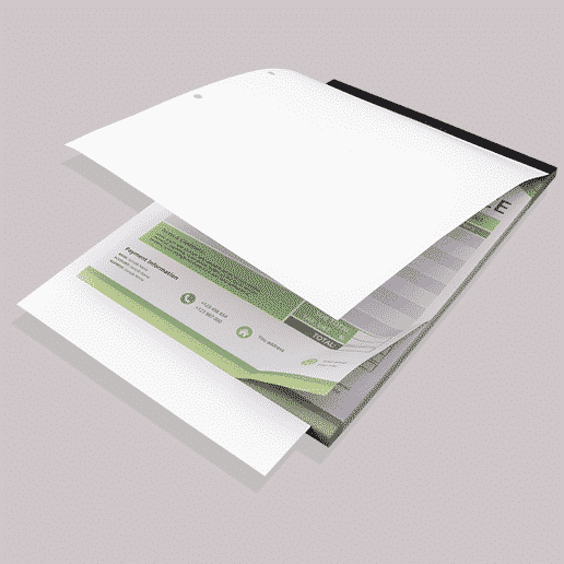 coloured invoice books